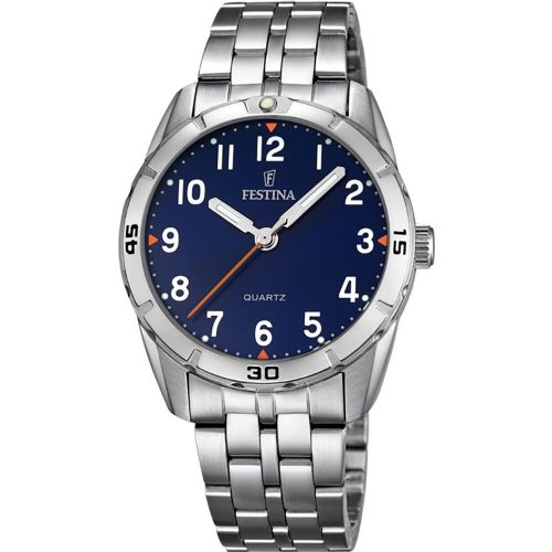 F16907/2 Festina ladies stainless steel blue face bracelet watch with arabic dial